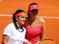 With Iva Majoli in a legends game in 2011