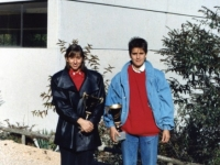 Conchita, 14 years old, after an exhibition game in Sant Hilari Sacalm with Ana Almansa