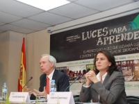 Conchita Martinez in the presentation of Luces para Aprender in Madrid. May 2012