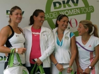 Conchita with Dulgheru, in a side event organized by the Andalucia Tennis Experience
