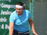 Conchita in action at the Pro-am that takes place during the Esurance tennis classic