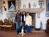 With Marimar Torres and Rosie Casals in Sonoma, visiting the Marimar cellars