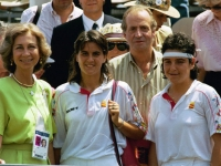 With the King and Queen of Spain in Barcelona 92