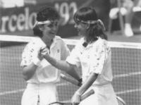Arantxa Sanchez Vicario and Conchita Martinez who won the silver medal in doubles (female) tennis.