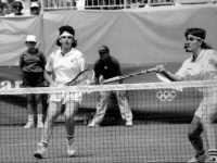 Arantxa and Conchita, during a match Barcelona 92