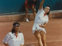Conchita doubles match with Arantxa during the Games of Barcelona 92