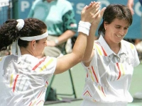 Conchita doubles match with Arantxa during the Atlanta Games 96