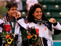 Arantxa and Conchita in the 1996 Atlanta Olympics where they won bronze medal