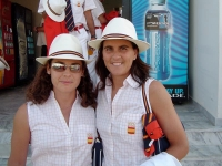 With Virginia Ruano in the Olympic Village in Athens 2004