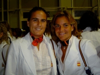 With Arantxa in the ceremony in Athens 2004