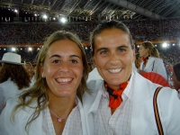 With Anabel inside the Olympic Stadium Athens 2004