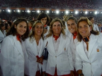With the Spanish tennis team in the 2004 Athens Olympic stadium