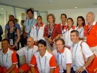 Her Majesty the Queen of Spain and Princess always supporting Spanish team members