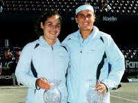 Conchita and Virginia, happy with their victory in Charleston