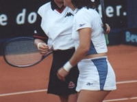Doubles final at the tournament in Berlin 2000 with Arantxa Sanchez