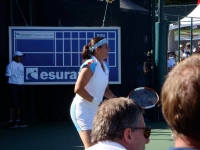 Conchita participating in the Esurance Classic, a tournament that raises money for good causes