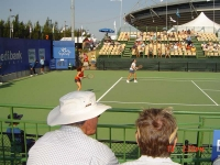 With Virginia Ruano playing the doubles tournament in Sydney