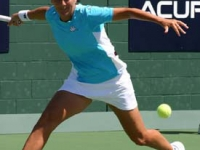In action at the Acura Tennis Classic in San Diego