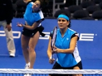 With partner Virginia Ruano playing the semifinals of female Masters in Los Angeles 2005