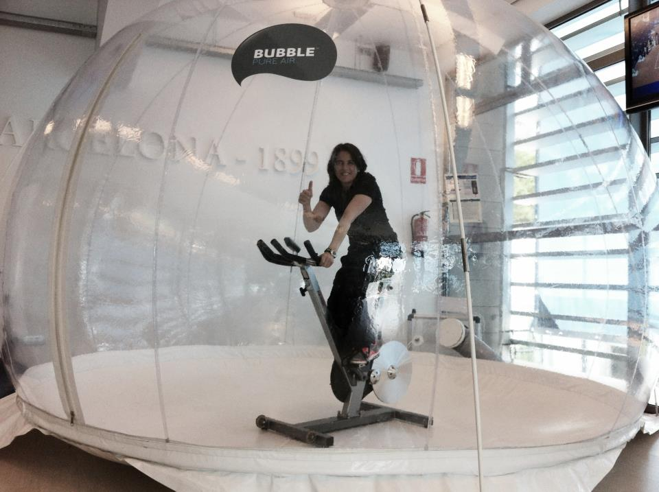 Conchita inside the pure air technology bubble